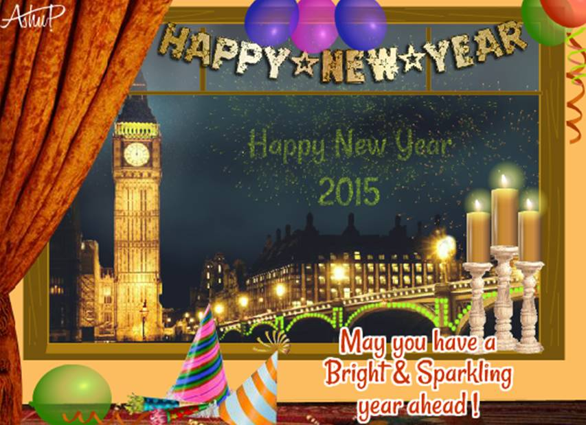 New Year ecard by Ashu Patodia