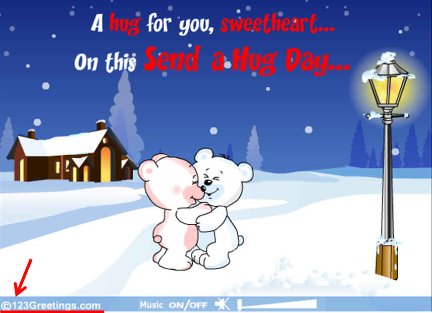 Send a Hug Day ecard copyrighted to 123Greetings.com