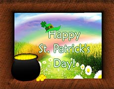 Elements to be used in St. Patrick's Day Ecards